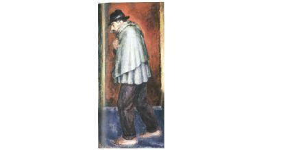 Ardengo Soffici, Il reduce 1919, 1929-1930, olio su carta applicata su tela, cm 145x75. Prato, Museo Civico