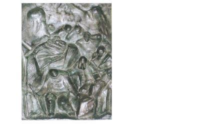 Arturo Martini, I gas asfissianti, dal bozzetto del 1935, bassorilievo in bronzo, cm 49x35. Venezia, Collezione Cassa di Risparmio di Venezia
