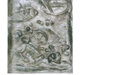 Arturo Martini, Il Piave, dal bozzetto del 1935, bassorilievo di bronzo, cm 49x35. Venezia, Collezione Cassa di Risparmio di Venezia