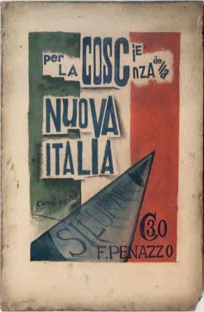 Carlo Carrà, Per la coscienza di una nuova Italia, 1914, tempera su cartoncino, 38x24, Milano, Collezione privata