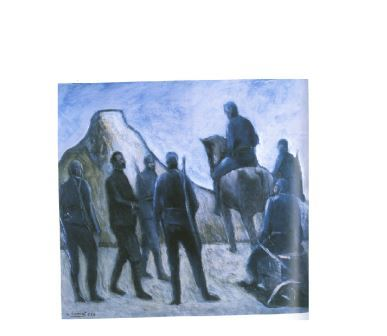 Crlo Carrà, Arresto di Cesare Battisti, 1934, olio su tela, cm 54,5x59,5. Museo di Arte Moderna e Contemporanea di Trento e Rovereto