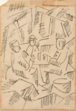 Fernand Leger - Giocano a carte