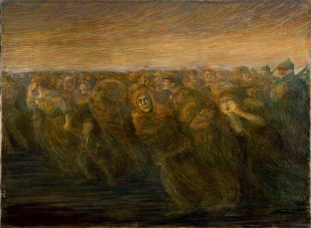 Gaetano Previati Orrori della guerra - L'esodo 28