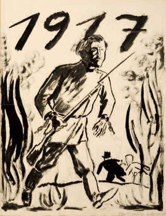 George Grosz, 1917, 1924, china e matita su carta, 64,8x52,3, Milano, Collezione privata
