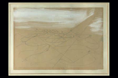 Giacomo Balla, Cimiteri di guerra, 1918-1919, matita e biacca su carta, 18x20, Milano, Collezione privata