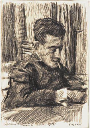 Il capitano Fantoni, 1918, matita su carta, 34x23,5, Collezione privata