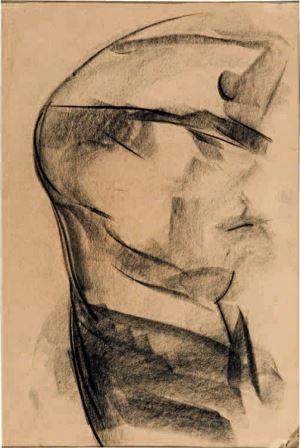 Lorenzo Viani, Soldato austriaco, 1927, matita su carta, 30x19,5, Milano, Collezione privata