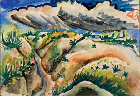 Otto Dix, Scützengraben in der Champagne [Trincee nella Champagne], 1916, acquarello e matita su carta, 20,4x28,8, Milano, Collezione privata