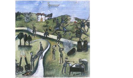 Ottone Rosai, Guerra + Rancio, 1916, olio su tela, cm 40x38, Prato, Collezione Farsettiarte