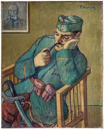 Pietro Marussig, Soldato austriaco, 1917, olio su tela, 82x65, Milano, Collezione privata