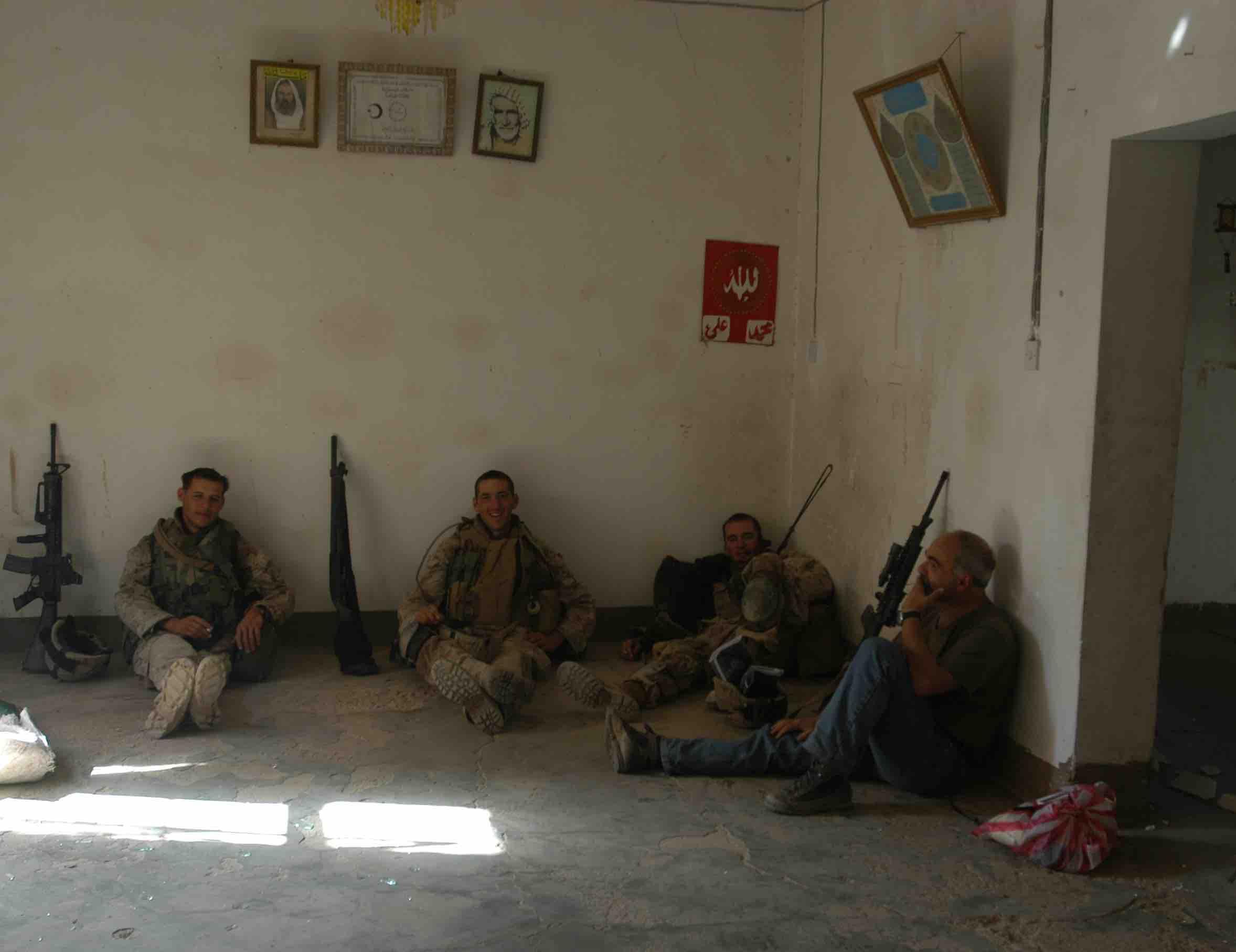Pagetti e tre soldati colore