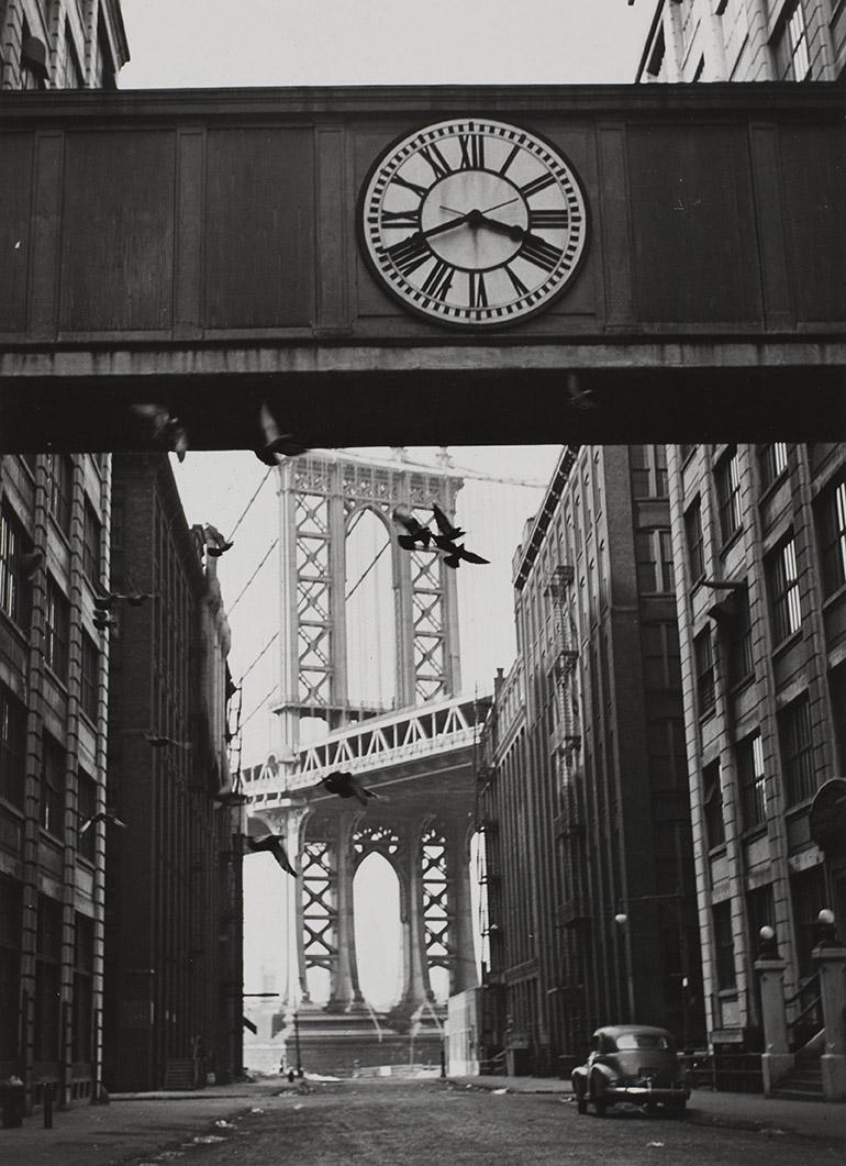 L'Horloge de la passerelle, New York, 1947