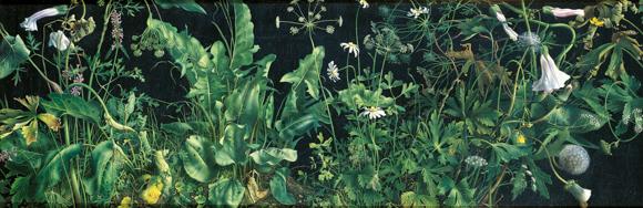 40 Zolla notturn,a 1994-95, tempera su tavola incamottata, cm. 30x90