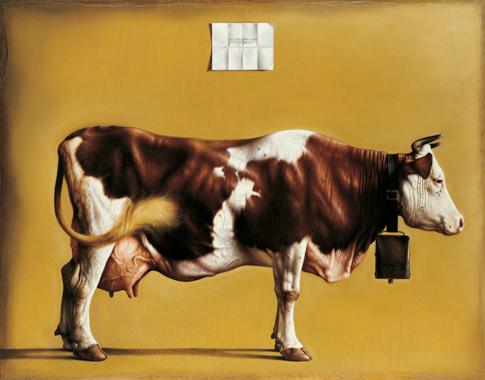 56 Grande mucca, 2001-2002, olio su tavola incamottata, cm. 130x165