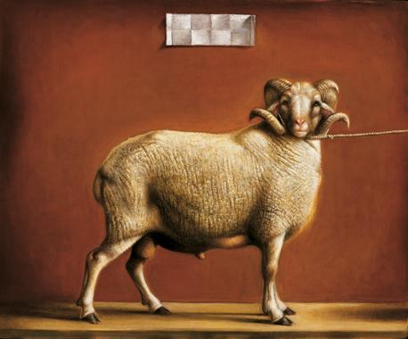 59 Caprone, 2001, olio su tavola incamottata, cm. 19x23
