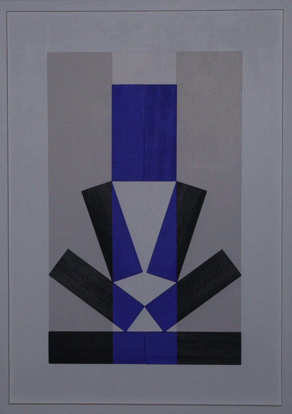 Bambino - 2017 - legno in rilievo dipinto - 77,5x55