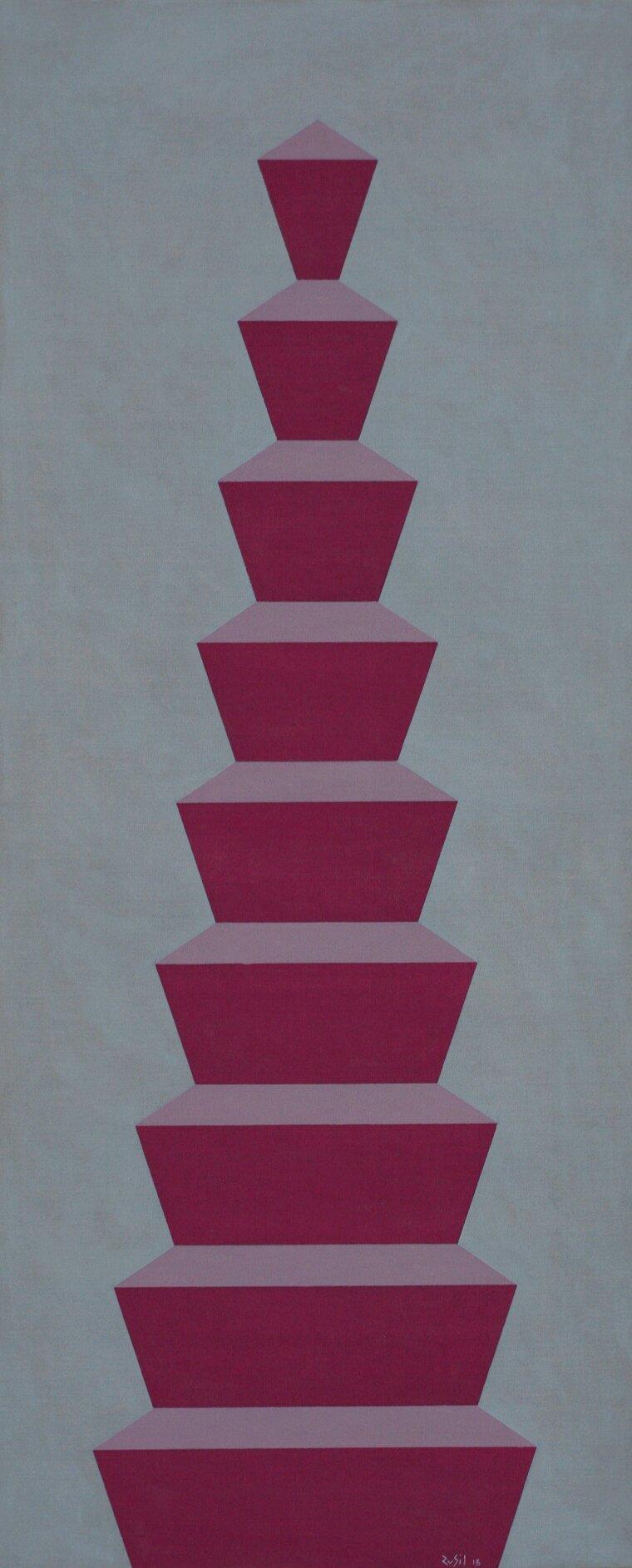 La colonna compiuta - 2013 - olio su tela - 117x48