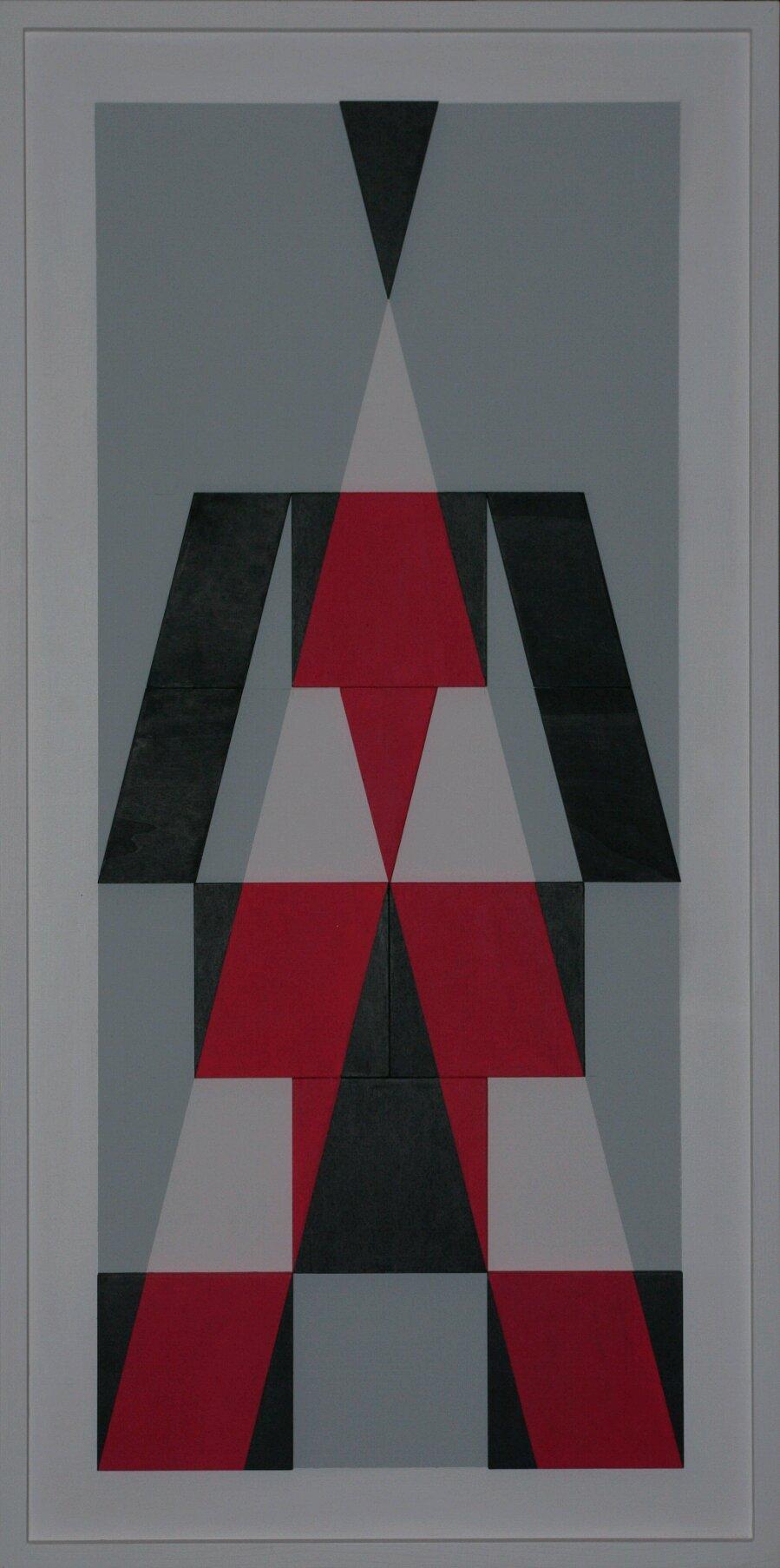 La forza - 2017 - legno in rilievo dipinto - 112x56