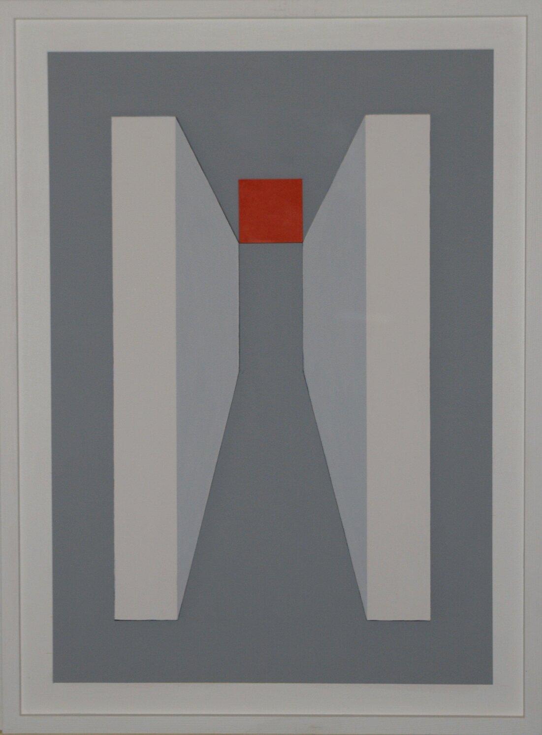 ProfonditÖ dell'uomo - 2017 - legno in rilievo dipinto - 81x60