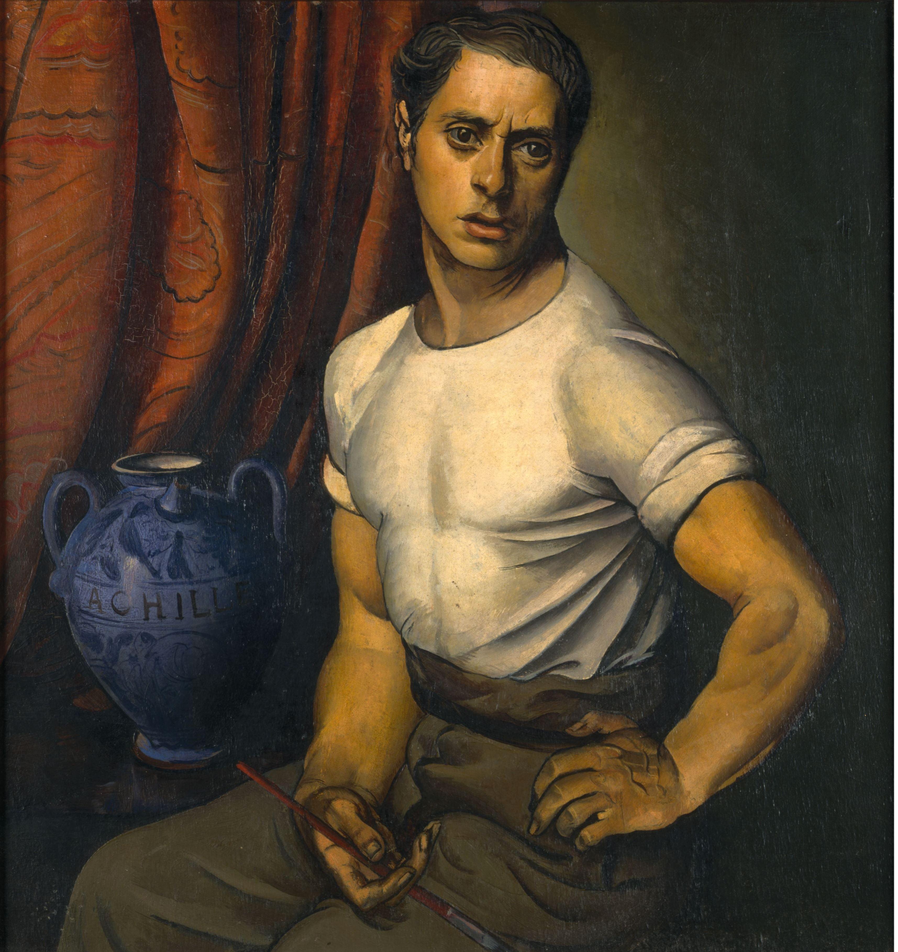 Achille Funi Autoritratto con brocca blu, 1920-jpeg