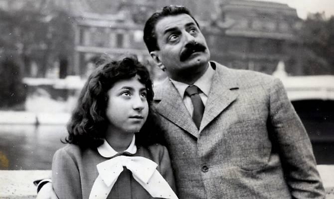 Guareschi con la sua Musa, figlia Carlotta