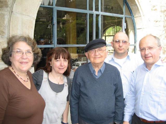 Appelfeld con Judith e Fornasieri Gerusalemme