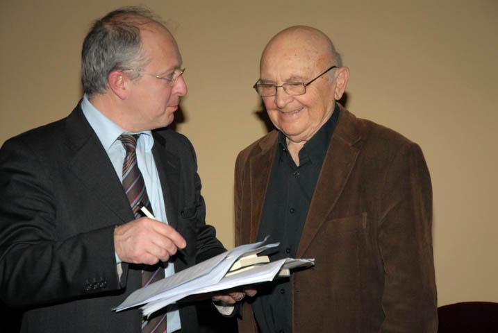 Camillo Fornasieri con Appelfeld all'incontro CMC del 2009