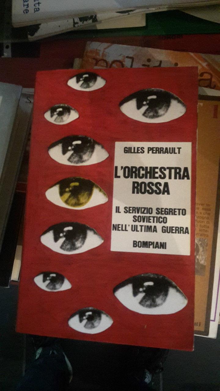 Copertina libro L'orchestra_rossa__di_Gilles_Perrault__Bompiani__Milano__1968_copertina_illustrata_da_harloff