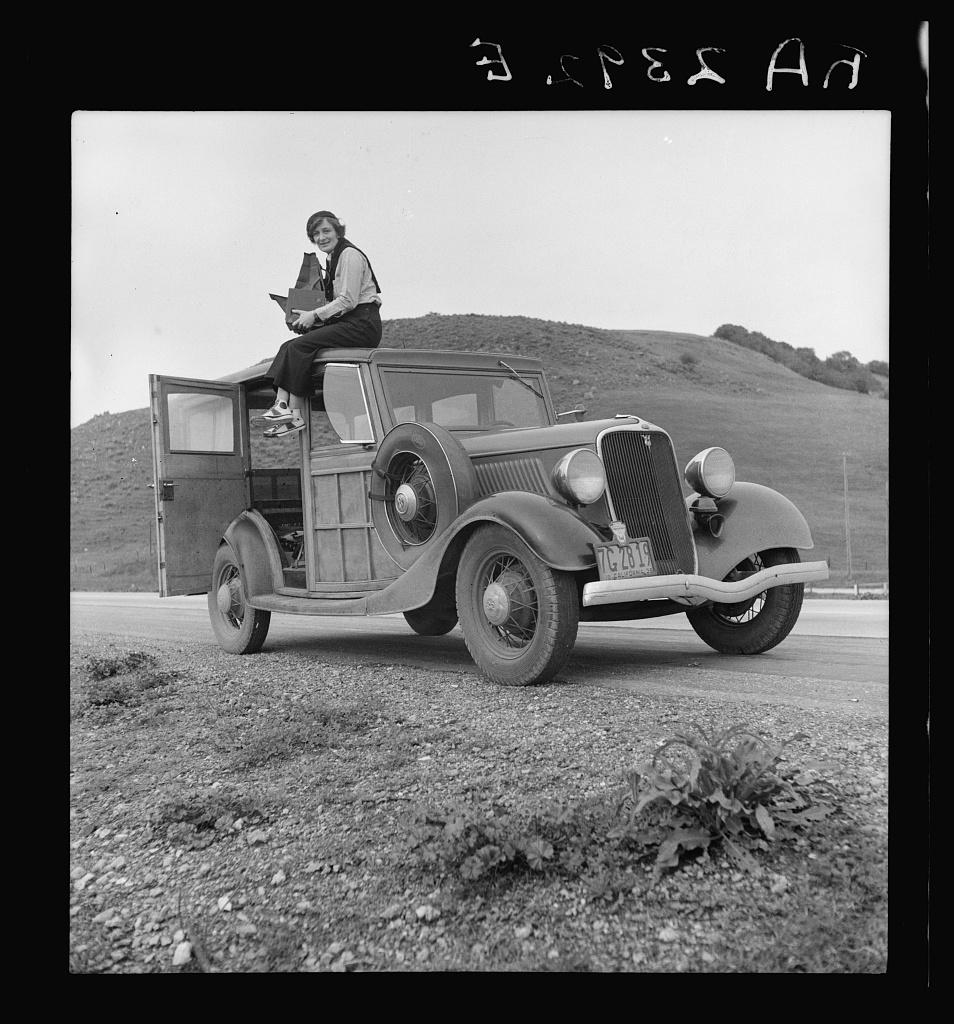 Dorothea Lange Library of Congress la Lange sulla macchina 8b27245v
