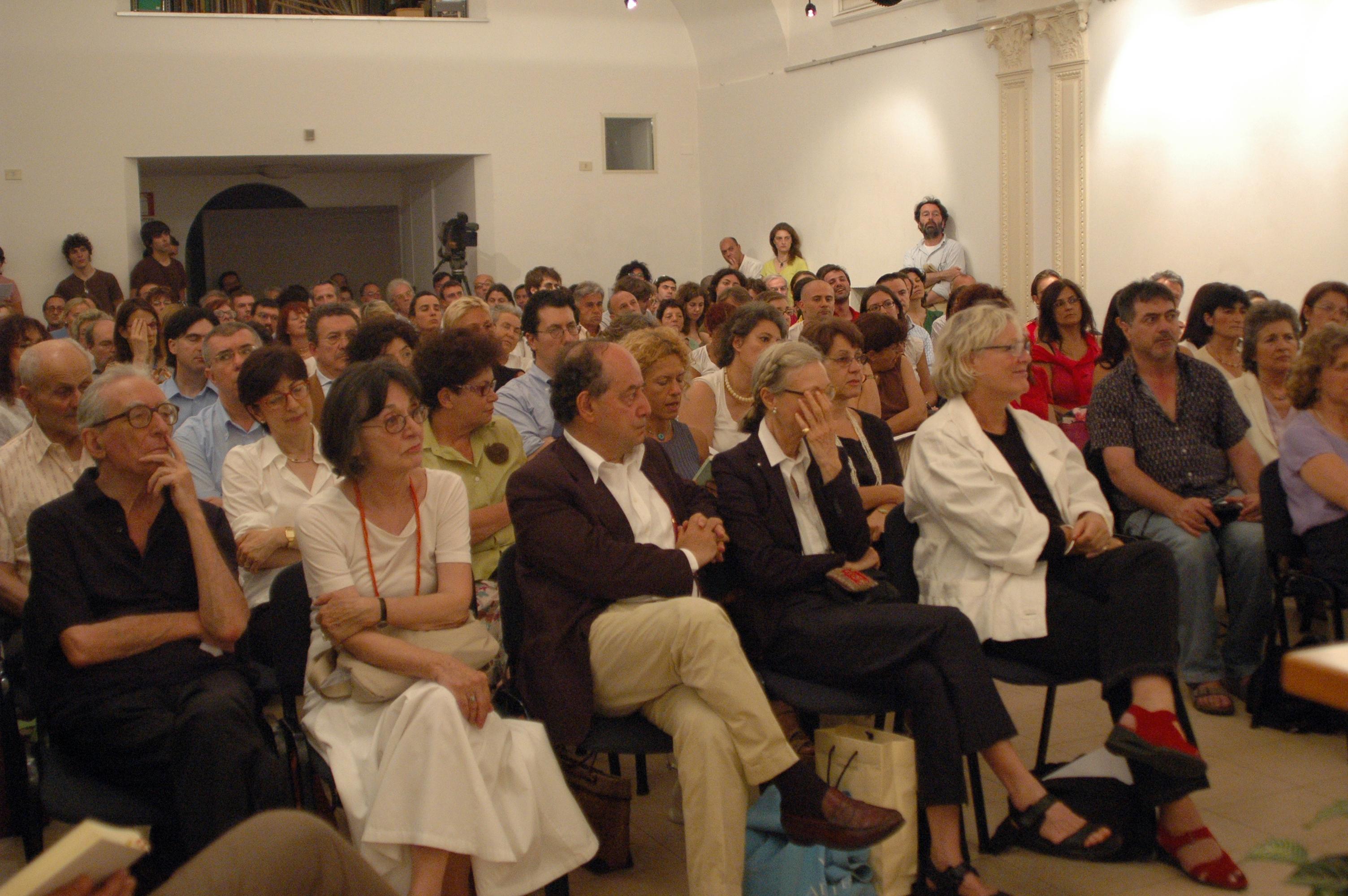 Franco Loi con la moglie Silvana al CMC - Incontro don Derek Walcot Premio Nobel Letteratura (a fianco Roberto Calasso, Fleur Jeggy)