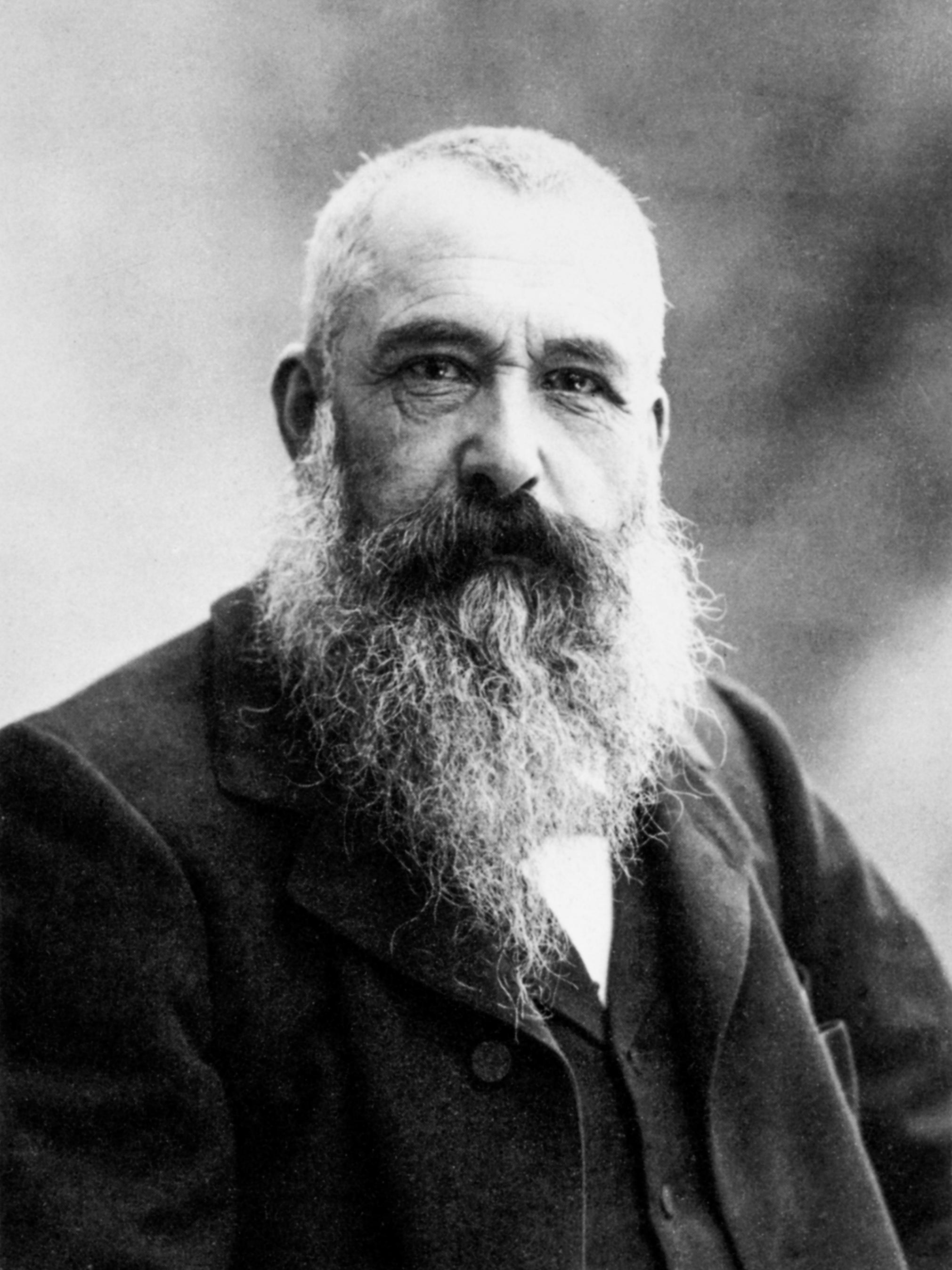Portrait photograph of the French impressionist painter Claude Monet by Nadar, 1899