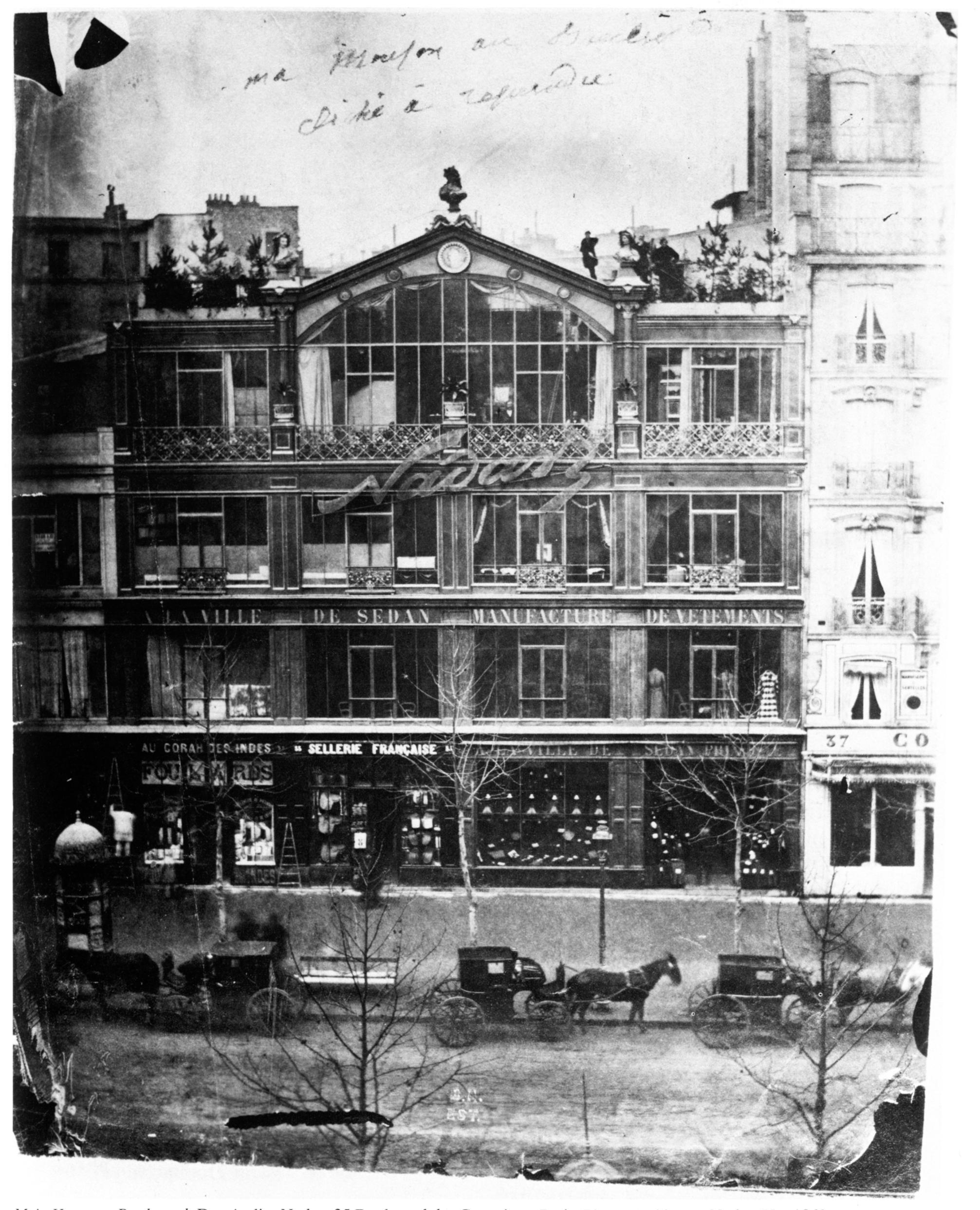 Francais: Atelier Nadar 35 Boulevard Des Capucines, 1860